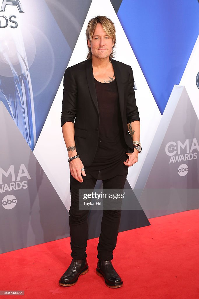 <a gi-track='captionPersonalityLinkClicked' href=/galleries/search?phrase=Keith+Urban&family=editorial&specificpeople=202997 ng-click='$event.stopPropagation()'>Keith Urban</a> attends the 49th annual CMA Awards at the Bridgestone Arena on November 4, 2015 in Nashville, Tennessee.