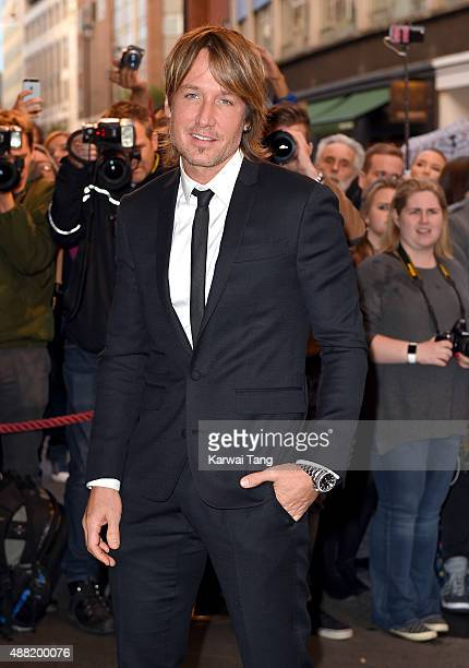 Keith Urban attends the press night of 'Photograph 51' at Noel Coward Theatre on September 14 2015 in London England