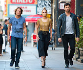 Keith Urban Jennifer Lopez and Harry Connick Jr are seen taping for 'American Idol' on October 29 2014 in Los Angeles California