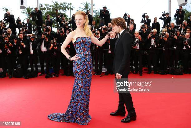 Keith Urban kisses the hand of jury member Nicole Kidman as they attend the 'Inside Llewyn Davis' Premiere during the 66th Annual Cannes Film...