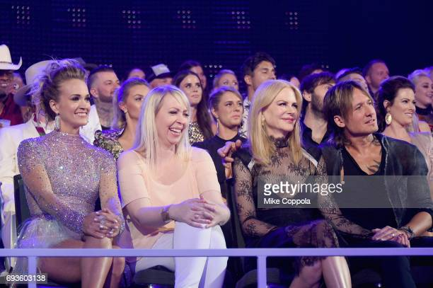 Keith Urban Nicole Kidman and guest attend the 2017 CMT Music Awards at the Music City Center on June 6 2017 in Nashville Tennessee