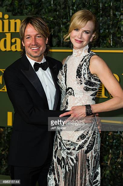 Keith Urban Nicole Kidman attend the Evening Standard Theatre Awards at The Old Vic Theatre on November 22 2015 in London England
