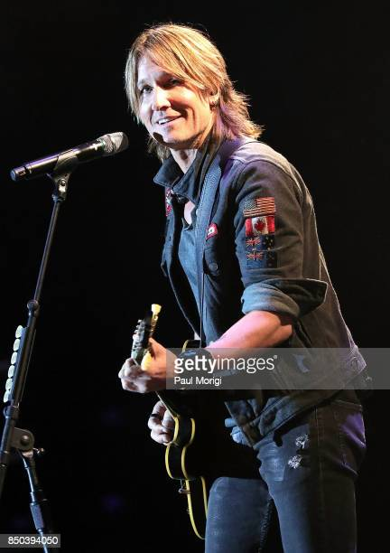 Keith Urban performs at the VetsAid Charity Benefit Concert at Eagle Bank Arena on September 20 2017 in Fairfax Virginia VetsAid is a foundation...