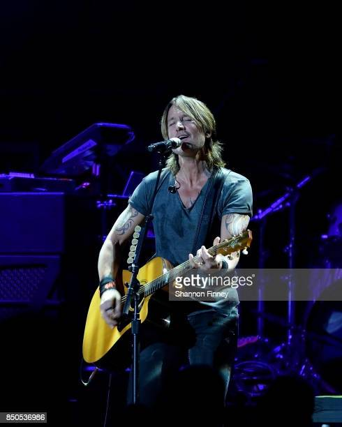 Keith Urban performs at the VetsAid Charity Benefit Concert at Eagle Bank Arena on September 20 2017 in Fairfax Virginia