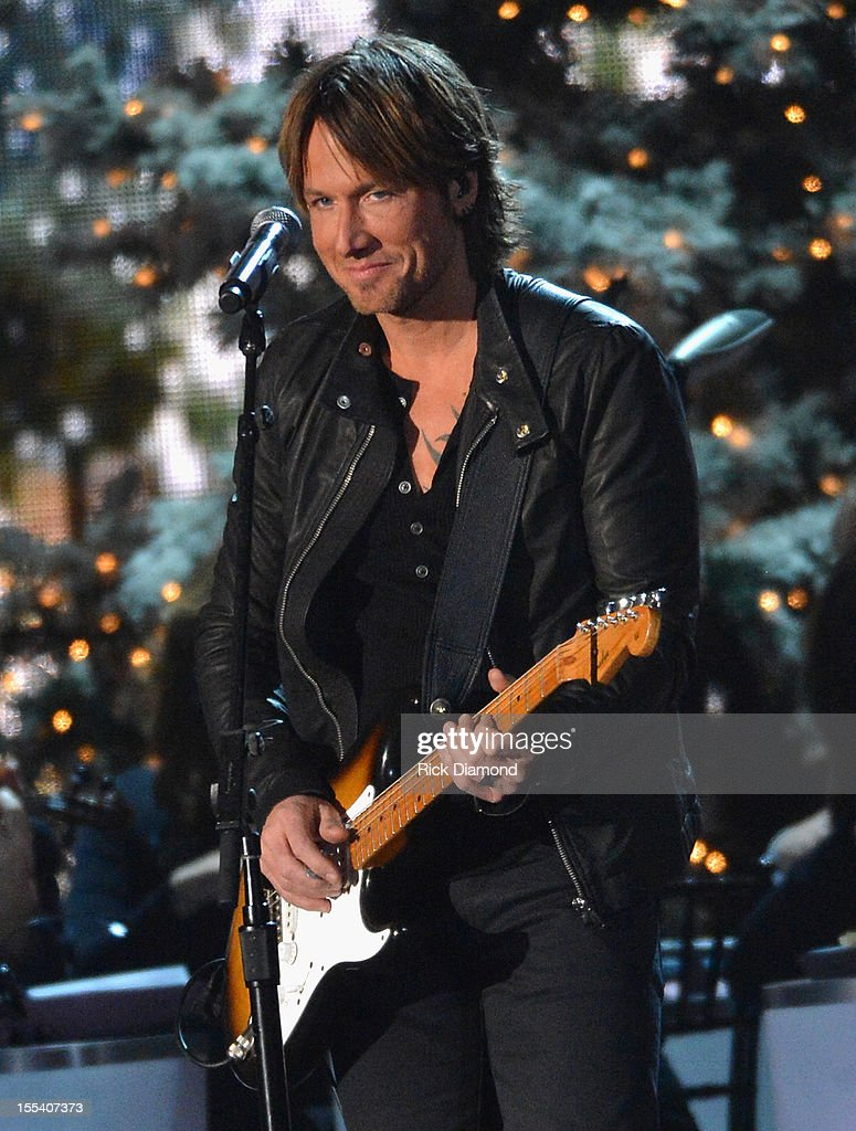 <a gi-track='captionPersonalityLinkClicked' href=/galleries/search?phrase=Keith+Urban&family=editorial&specificpeople=202997 ng-click='$event.stopPropagation()'>Keith Urban</a> performs during the 2012 Country Christmas concert on November 3, 2012 at the Bridgestone Arena in Nashville, Tennessee. The special airs Thursday, December 20 from 9:00-11:00 p.m., ET on the ABC Television Network.