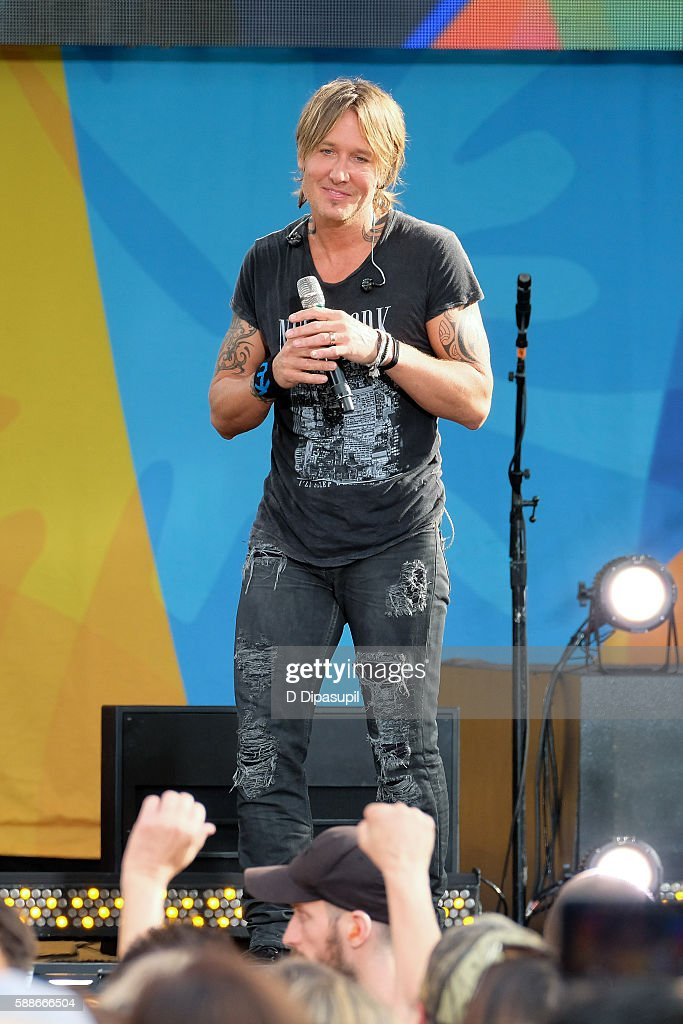 Keith Urban performs on ABC's 'Good Morning America' at SummerStage at Rumsey Playfield Central Park on August 12 2016 in New York City