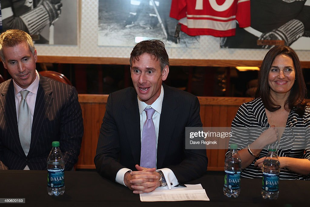 Keith Wachtel Executive Vice Prsidend of Sale Sponsorship for the NHL speaks to the media about the Winter Classic and the Winter Festival To his...