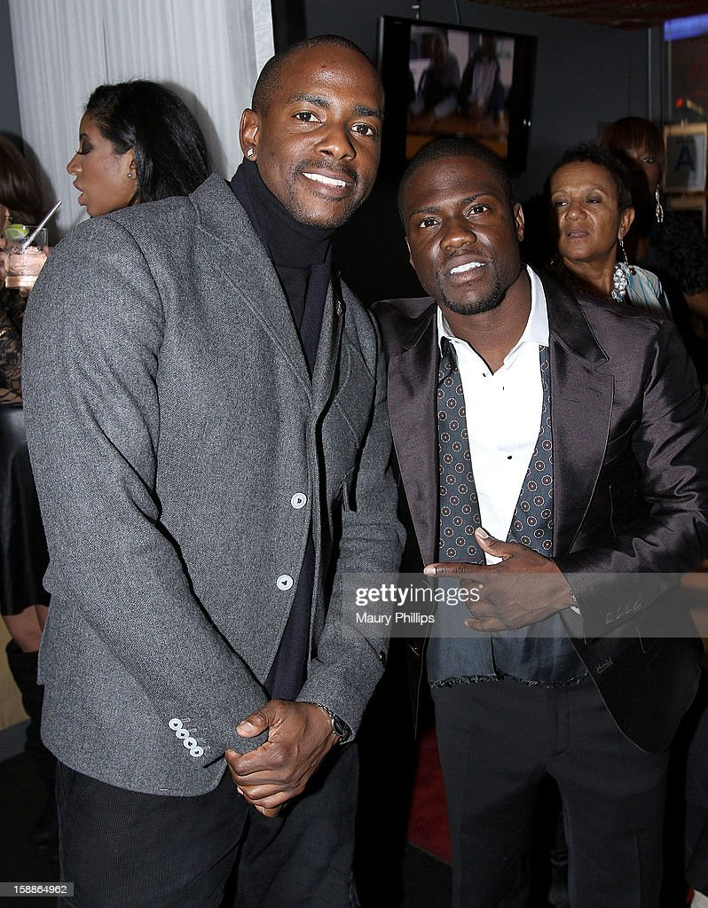 Keith Washington and Kevin Hart attend a private dinner for Kevin Hart on December 31, 2012 in Los Angeles, California.