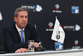 Keith Waters COO and Director of International Policy at the European Tour attends a press conference to announce that DP World will continue to...