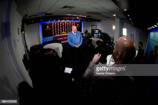 Keith Wyness CEO of Aston Villa talks to the press during a press conference at Villa Park on May18 2017 in Birmingham England