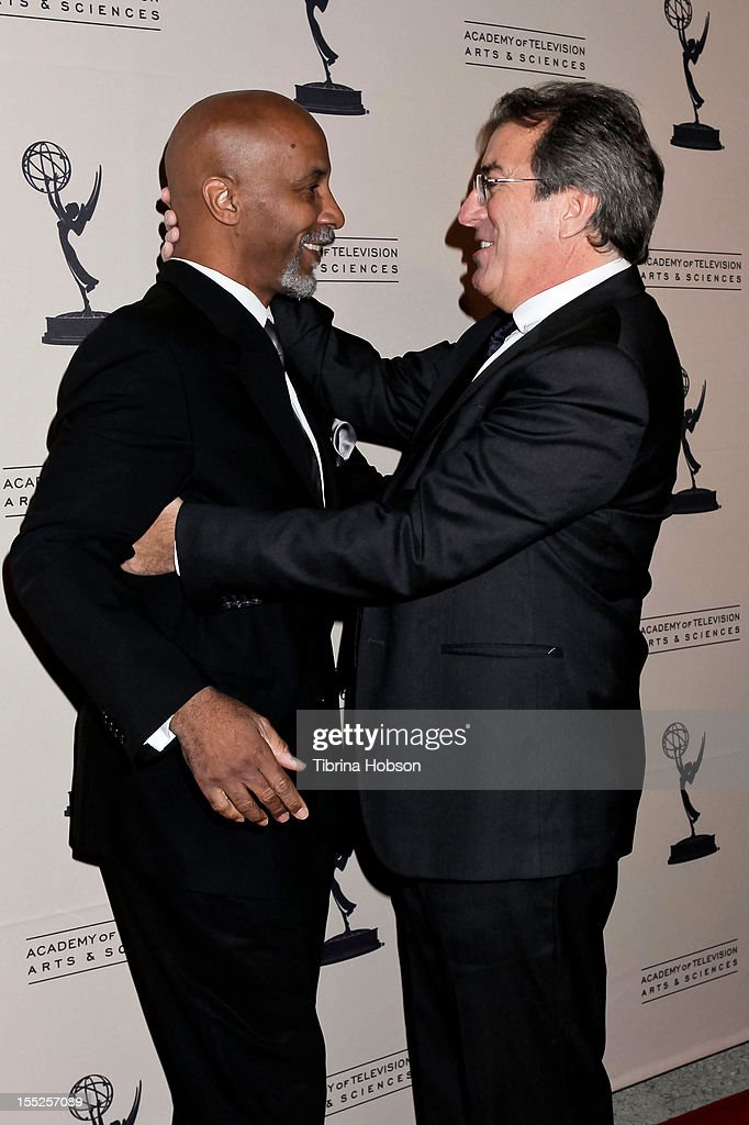 Keith Young and <a gi-track='captionPersonalityLinkClicked' href=/galleries/search?phrase=Kenny+Ortega&family=editorial&specificpeople=820096 ng-click='$event.stopPropagation()'>Kenny Ortega</a> attend the Academy of Television Arts & Sciences' 'The Choreographers: Yesterday, Today & Tomorrow' event at Leonard H. Goldenson Theatre on November 1, 2012 in North Hollywood, California.