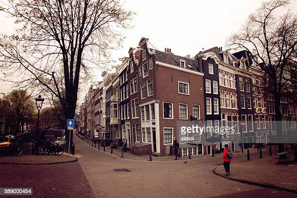 Keizersgracht canal houses in Amsterdam, Netherlands