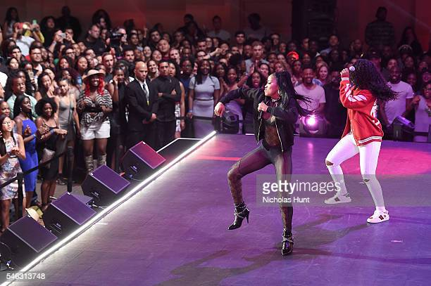 Keke Palmer and Dreezy perform onstage during the VH1 Hip Hop Honors All Hail The Queens at David Geffen Hall on July 11 2016 in New York City