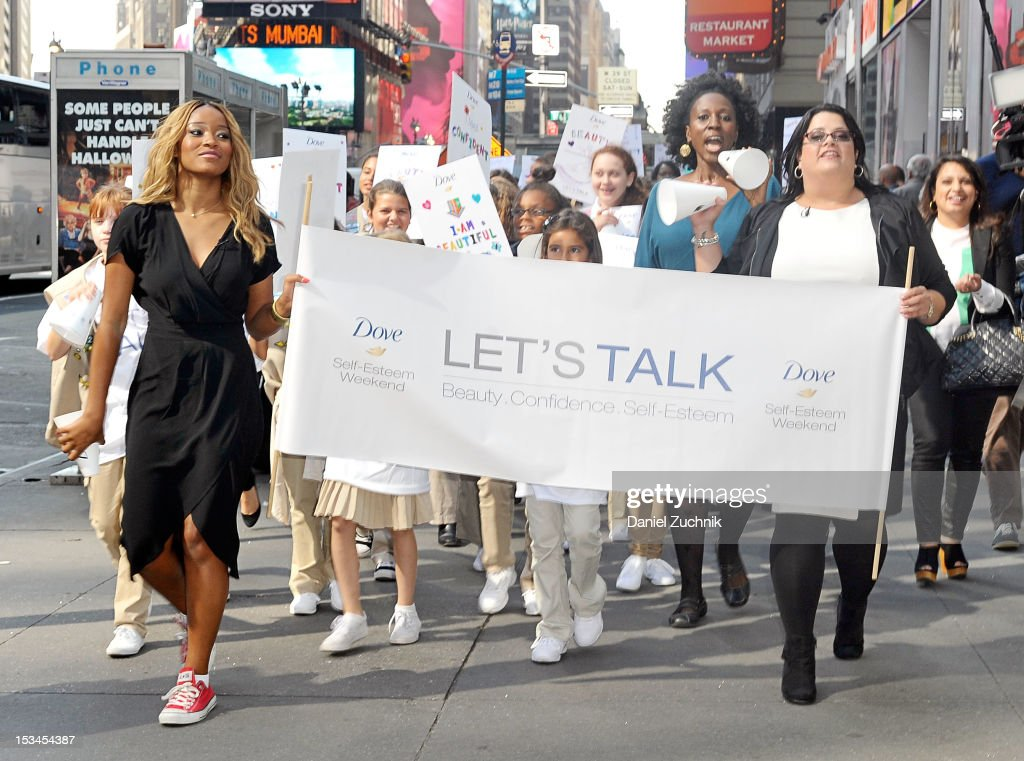 <a gi-track='captionPersonalityLinkClicked' href=/galleries/search?phrase=Keke+Palmer&family=editorial&specificpeople=653121 ng-click='$event.stopPropagation()'>Keke Palmer</a> and Jess Weiner attend the 3rd Annual Dove Self-Esteem Weekend in Times Square on October 5, 2012 in New York City.