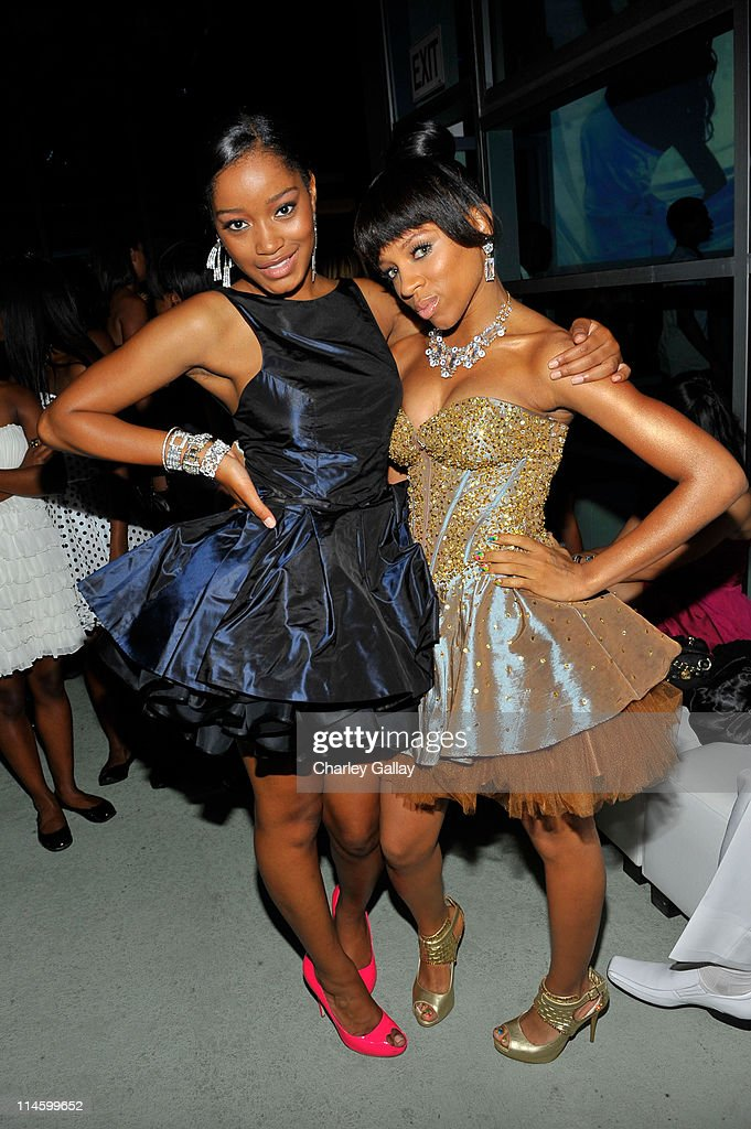 **EXCLUSIVE** Keke Palmer and Lil Mama attend 'True Jackson VP' star Keke Palmer's sweet 16 birthday party sponsored by TMobile Sidekick LX on August...