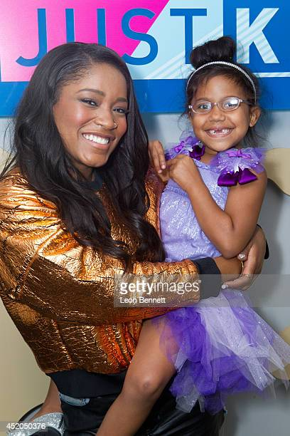 Keke Palmer and Miacahya Brown attends BET And Make A Wish Foundation event with Keke Palmer on July 11 2014 in Los Angeles California
