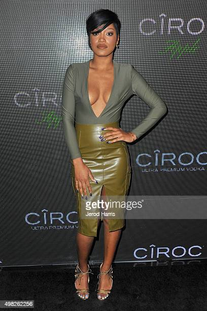 Keke Palmer arrives at Sean 'Diddy' Combs Exclusive Birthday Celebration on November 21 2015 in Beverly Hills California