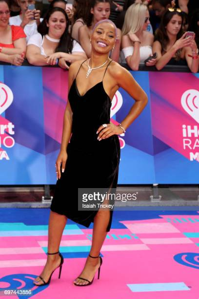 Keke Palmer arrives at the 2017 iHeartRadio MuchMusic Video Awards on June 18 2017 in Toronto Canada