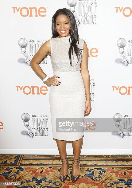 Keke Palmer attends the 45th NAACP Image Awards nominations announcement held at Langham Hotel on January 9 2014 in Pasadena California