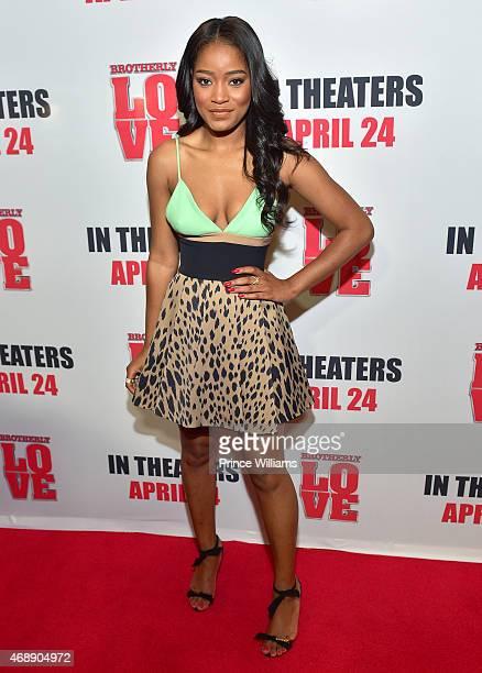 Keke Palmer attends the 'Brotherly Love' movie screening at Phipps Plaza on April 7 2015 in Atlanta Georgia