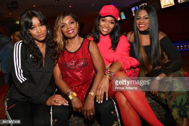 Keke Palmer Catherine Brewton and Marlo Hampton attend 2017 Ludaday Weekend Celebrity Bowling Tournament at Bowlmor lanes on September 1 2017 in...