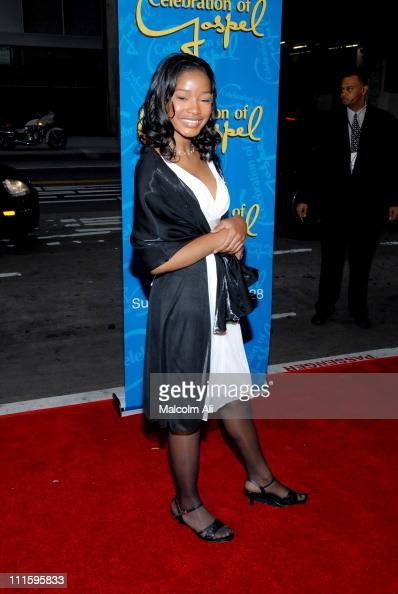 Keke Palmer during BET's Celebration of Gospel VII Red Carpet at Orpheum Theatre in Hollywood California United States