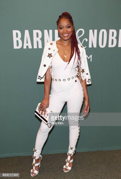 Keke Palmer promotes her new book 'I Don't Belong to You Quiet the Noise and Find Your Voice' at Barnes Noble Tribeca on January 31 2017 in New York...