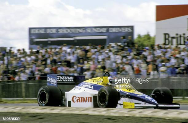 Keke Rosberg driving a Williams FW10 at Silverstone British GP