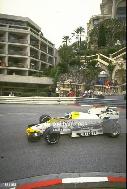 Keke Rosberg of Finland in action in his Williams Honda during the Monaco Grand Prix at the Monte Carlo circuit in Monaco Rosberg finished in fourth...