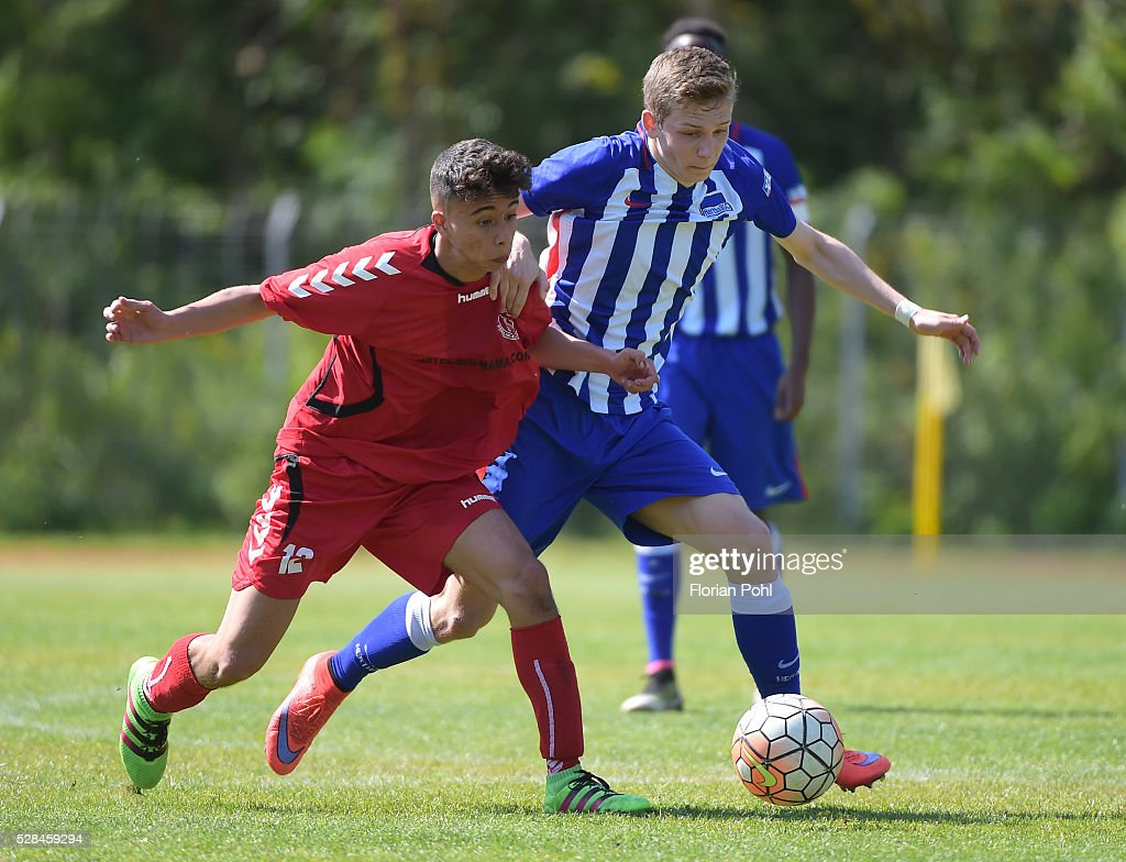 Kekil Firatogul of FC Hertha 03 During the B-juniors cup match between FC Hertha 03 and Hertha BSC on May 5, 2016 in Berlin, Germany.