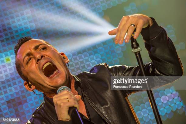 Kekko Silvestre of Moda' performs at Mediolanum Forum on March 7 2017 in Milan Italy