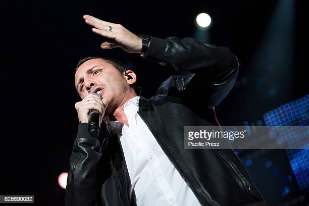 Kekko Silvestre of Pop rock band Modà performed live at a concert full of energy and passion completely sold out
