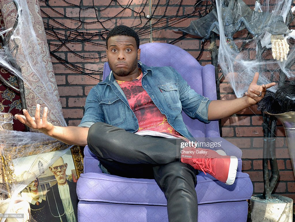 Kel Mitchell from the cast of Nickelodeon's Game Shakers greet kids and fans at a special Halloween-themed event at the Nickelodeon Animation Studio in Burbank, Calif., for a sneak peek of a spooky episode of the animated series Harvey Beaks as well as new clips from Bella and the Bulldogs, Game Shakers and the movie Liar, Liar, Vampire, on October 6, 2015 in Burbank, California. Liar, Liar, Vampire will premiere in October.