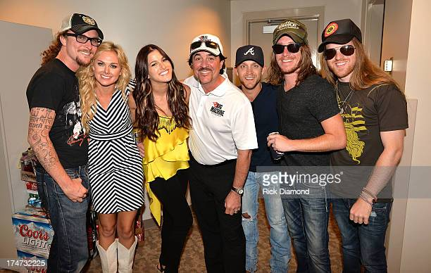 Kelby Ray Jaren Johnston Neil Mason of The Cadillac Three Laura Bell Bundy Big Machine Records CEO and President Scott Borchetta Justin Moore and...