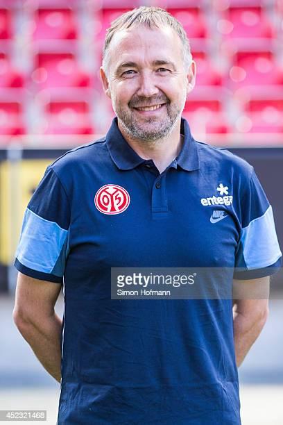 Keld Bordinggaard poses during the 1 FSV Mainz Team Presentation at Coface Arena on July 18 2014 in Mainz Germany