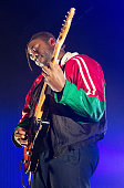 Kele Okereke of Bloc Party performs at Enmore Theatre on January 7 2016 in Sydney Australia