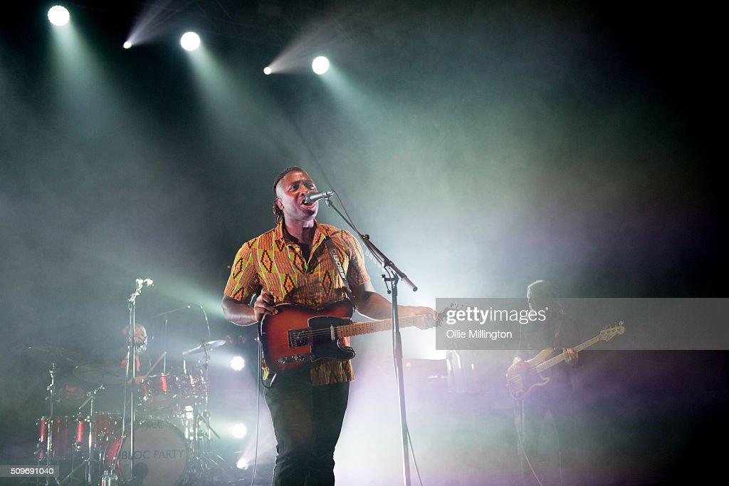 Kele Okereke of Bloc Party performs headlining the NME Awards Tour 2016 at O2 Academy Brixton on February 11 2016 in London England