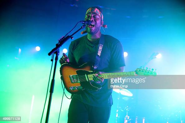 Kele Okereke of Bloc Party performs live at St JohnatHackney Church on December 4 2015 in London England