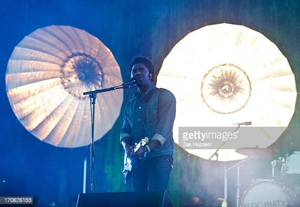 Kele Okereke of Bloc Party performs on day 3 of the Isle of Wight Festival at Seaclose Park on June 15 2013 in Newport Isle of Wight