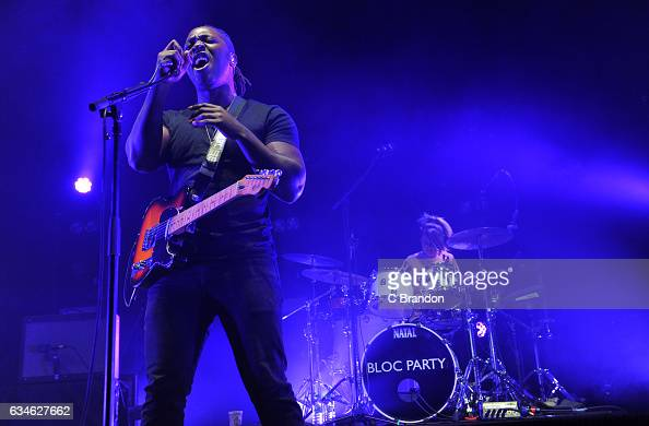 Kele Okereke of Bloc Party performs on stage at the Roundhouse on February 10 2017 in London United Kingdom