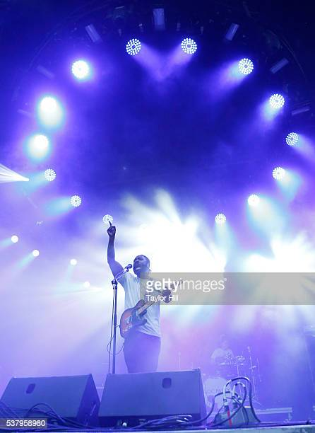 Kele Okereke of Bloc Party performs onstage during the 2016 Governors Ball Music Festival at Randall's Island on June 3 2016 in New York City