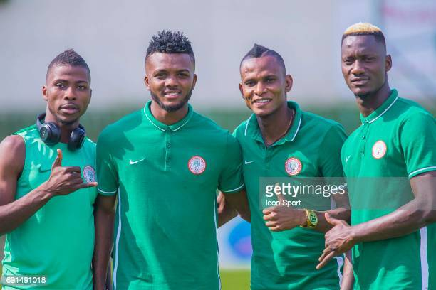 Kelechi Iheanacho Chidozie Awaziem Uche Agbo and Dele Alampsu of Nigeria during the soccer friendly match between Nigeria and Togo on June 1 2017 in...