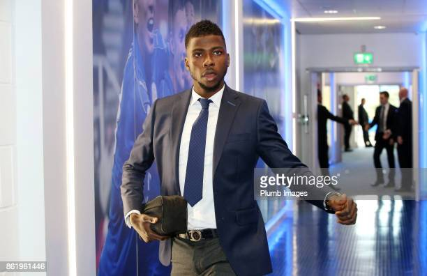 Kelechi Iheanacho of Leicester City arrives at King Power Stadium ahead of the Premier League match between Leicester City and West Bromwich Albion...