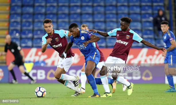 Kelechi Iheanacho of Leicester City bursts through the West Ham defence during the Premier League 2 match between Leicester City and West Ham United...