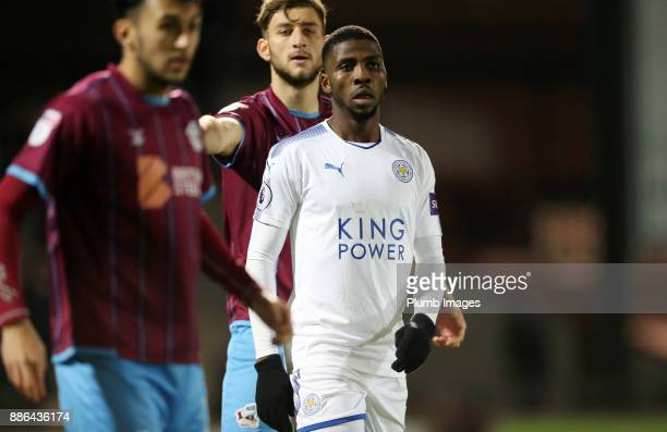 Kelechi Iheanacho of Leicester City during the Checkatrade Trophy tie between Scunthorpe United and Leicester City at Glanford Park on December 5th...