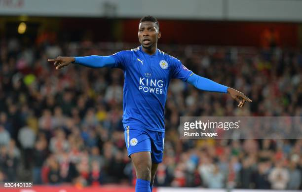 Kelechi Iheanacho of Leicester City during the Premier League match between Arsenal and Leicester City at Emirates Stadium on August 11th 2017 in...