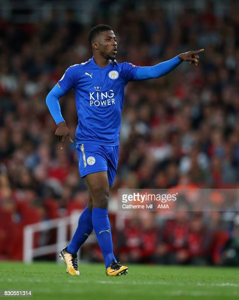 Kelechi Iheanacho of Leicester City during the Premier League match between Arsenal and Leicester City at Emirates Stadium on August 11 2017 in...