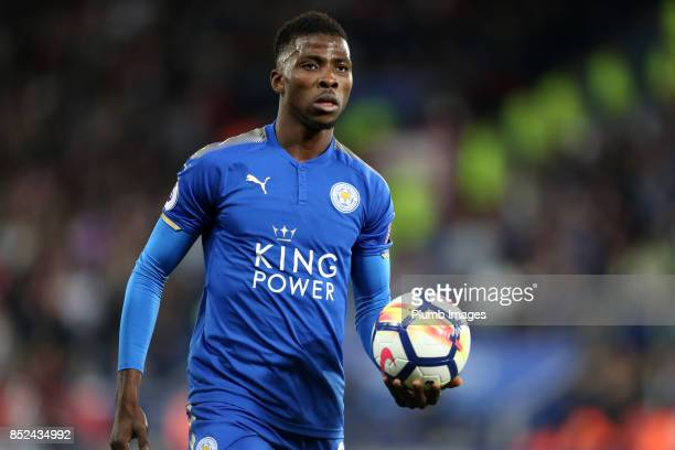 Kelechi Iheanacho of Leicester City during the Premier League match between Leicester City and Liverpool at The King Power Stadium on September 23rd...
