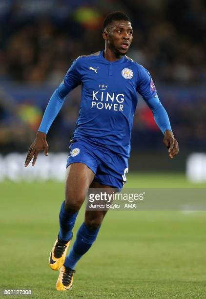 Kelechi Iheanacho of Leicester City during the Premier League match between Leicester City and West Bromwich Albion at The King Power Stadium on...