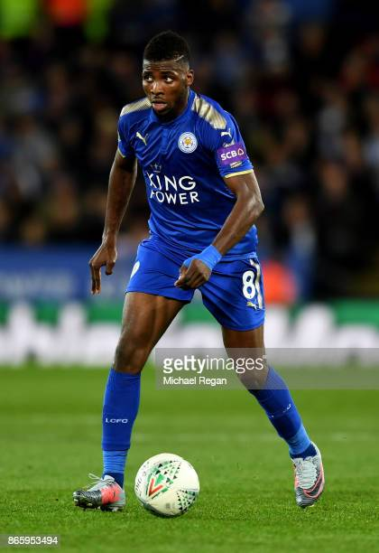 Kelechi Iheanacho of Leicester City in action during the Caraboa Cup Fourth Round match between Leicester City and Leeds United at The King Power...